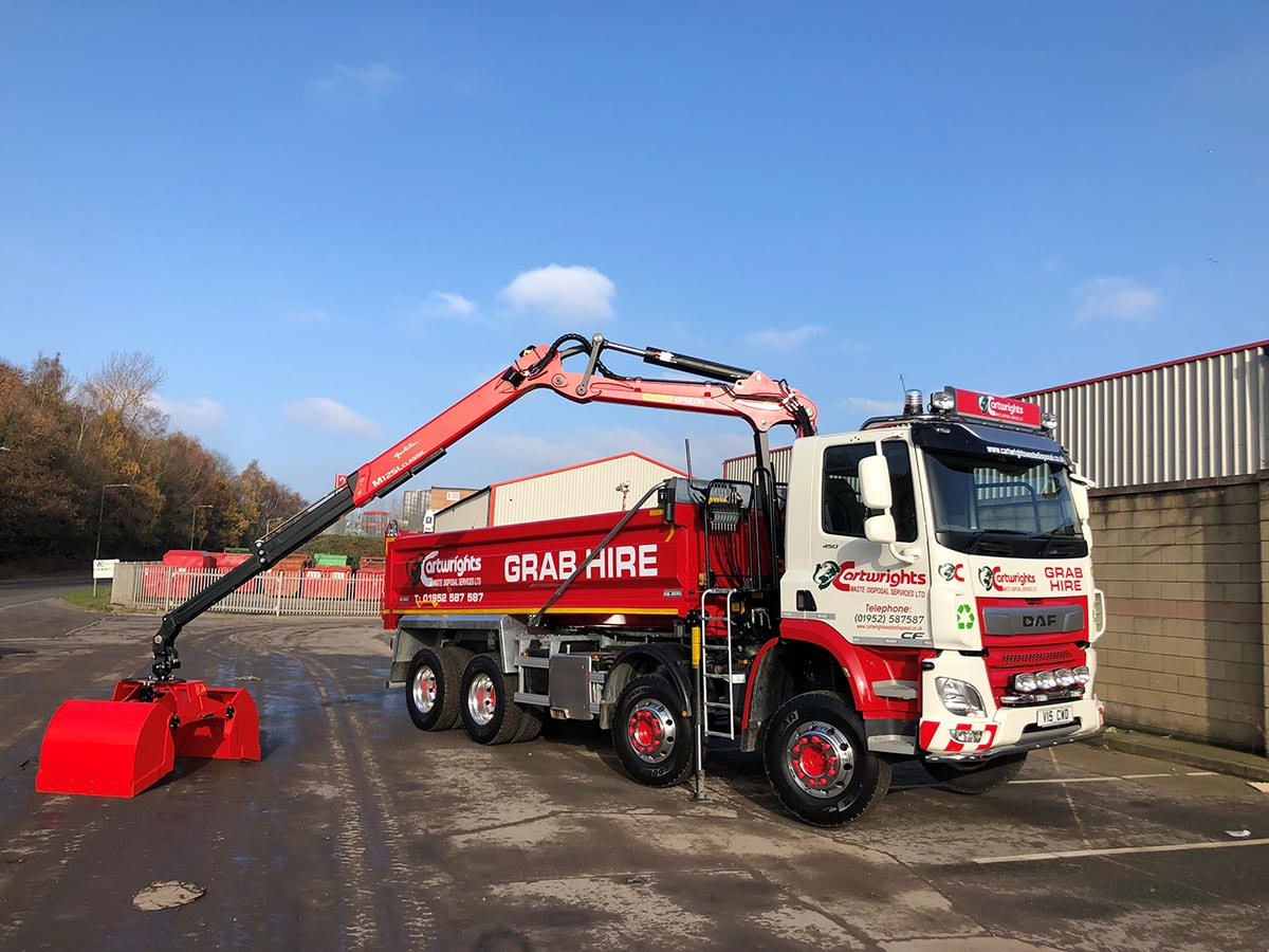cartwrights grab lorry hire